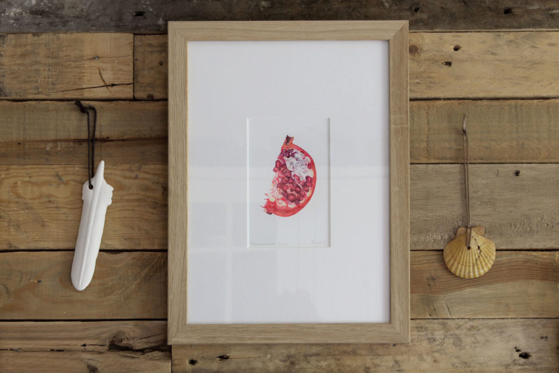 Pomegranate slice print