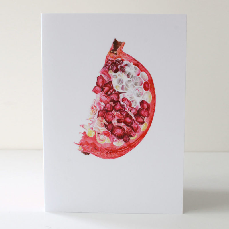 Pomegranate slice card