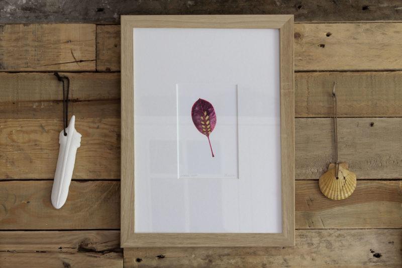 Smoke leaf print